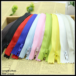 Free shipping wholesale 3 24cm mix nylon coil beautiful zippers for diy bag etc tailor sewer.jpg 250x250