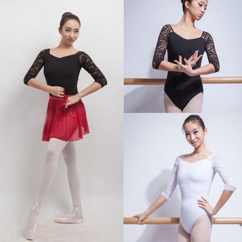 Ballet Justaucorps Pour Femmes Pur Coton Noir Ballet Vêtements Adulte  Vêtements de Pratique De Danse Gymnastique Justaucorps e700ccf4fc6
