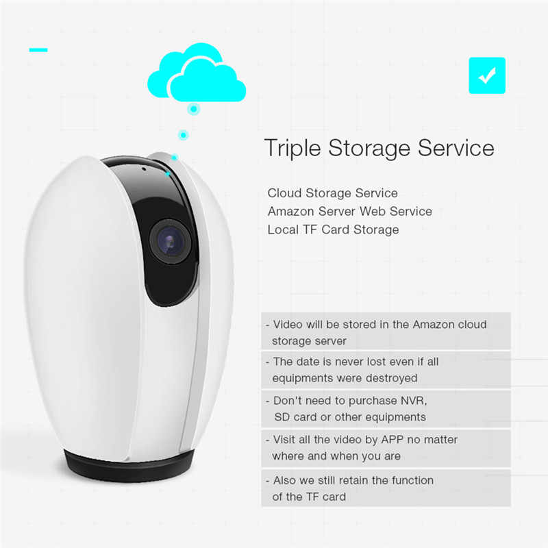 Digoo DG-OTK 720P 2MP 2 5mm Cloud Storage Amazon Server Web Service  Wireless WIFI Night Vision Home Security IP Camera Monitor