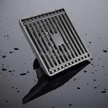 MAIDEER 100*100 мм Площадь Душ Трап с Съемный Фильтр, нержавеющая Сталь
