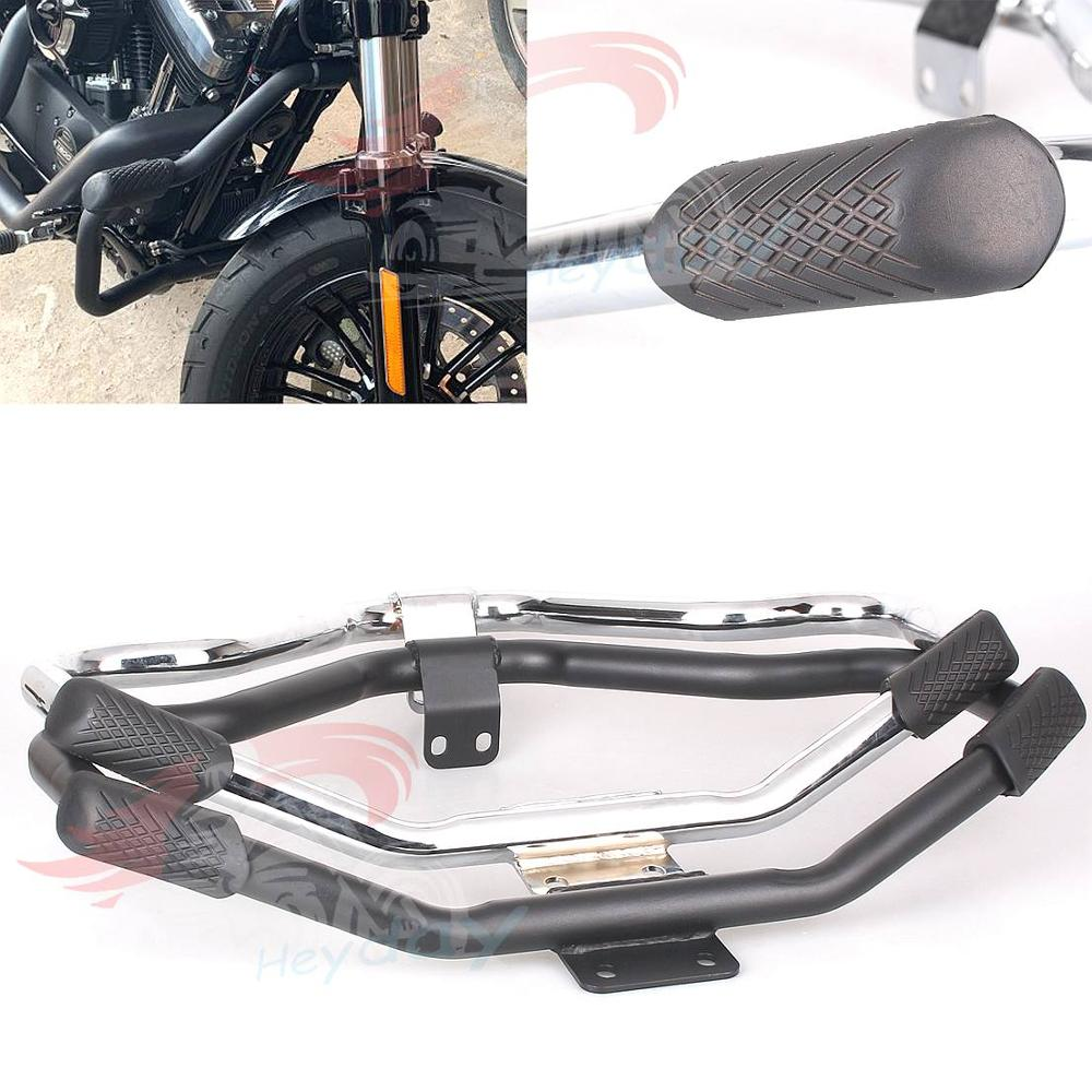 Motorcycle Mustache Highway Engine Guard Crash Bar For Harley HD Sportster Forty Eight XL 1200 883
