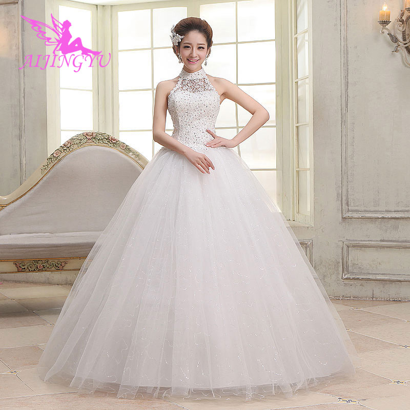 AIJINGYU 2018 Wholesale Free Shipping Hot Selling Cheap Ball Gown Lace Up Back Formal Bride Dresses Wedding Dress WU271
