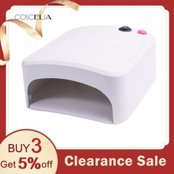 36W UV Lamp Gel Nail Dryer White UV Nail Lamp Curing for UV Nail Gels Polish Nail Art Tools Hot Sale 818