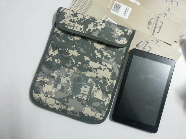10pcs New Ymitn Signal Blocker Military camouflage Pouch RFID Tracking  Bugging Privacy Protector radiation bag For Apple tablet