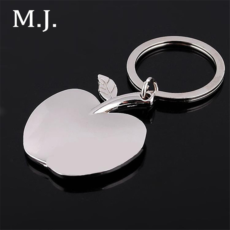 Fashion High Quality Novelty Apple Charm Women Keychain Rudder Mens Key Chain Key Ring Jewelry Car Accessory Gift Christmas
