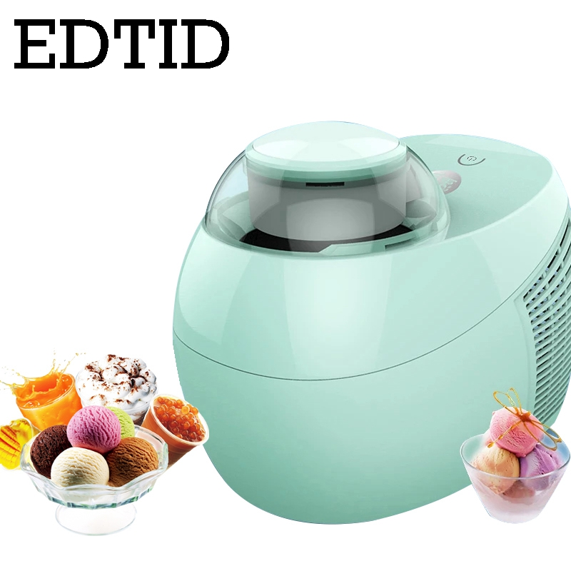 EDTID Full Automatic DIY Ice Cream Machine 500ml Intelligent Self cold slush Icecream Maker Frozen Fruit Dessert Freezer US EU