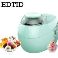 EDTID Full Automatic DIY Ice Cream Machine 500ml Intelligent Self cold slush Icecream Maker Frozen Fruit Dessert Freezer US EU
