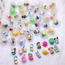 28mm Diameter Transparent Plastic Ball Capsule Toys with inside Rubber or Plastic Figure Dolls for Vending Machine 50Pcs/lot(China)