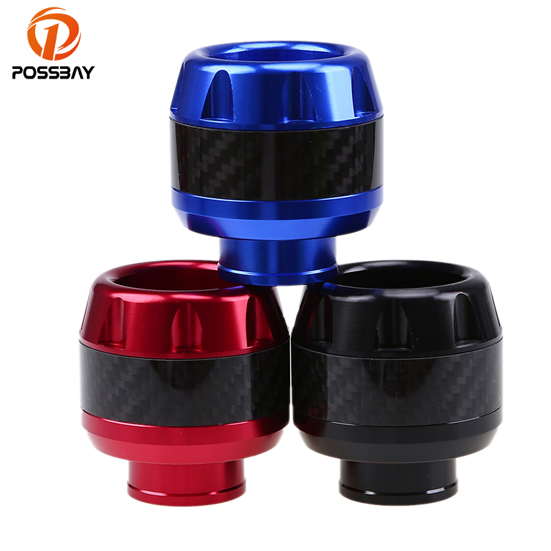 POSSBAY CNC Aluminum Motorcycle Crash Pad Caps Motocross Frame Slider Black/Red/Blue Universal For Most Scooter with 16mm screws