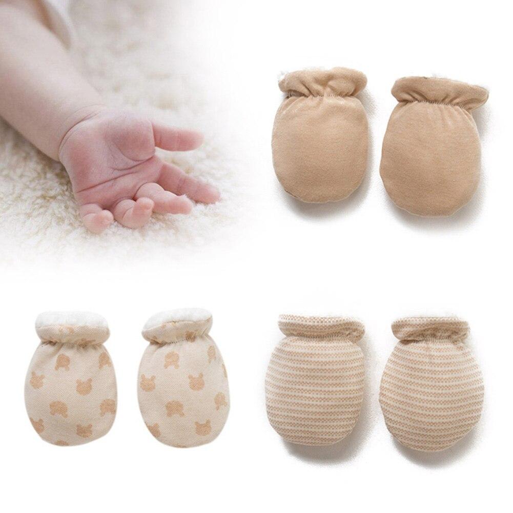 Newborn Boy Girl Infant Soft Cotton Handguard Anti Scratch Mittens Gloves Gift