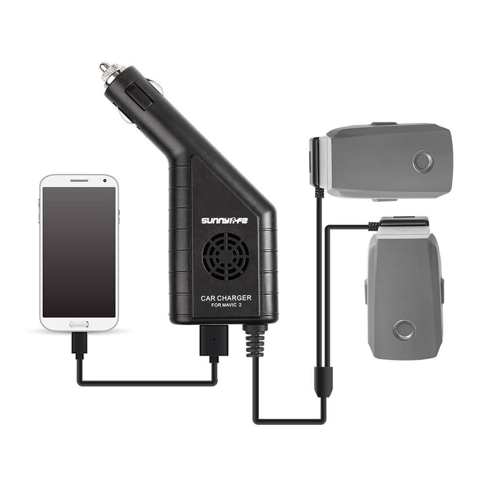 3 In 1 Battery Charger With USB Car Charger For DJI MAVIC 2 PRO & Mavic 2 ZOOM Drone Remote Controller