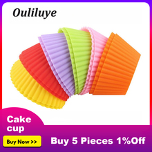 все цены на Random Color Silicone Cupcake Mold 1/6/12PCS Perfect for Baking Cupcakes and Muffins Mold DIY Cake Forms Kitchen Baking Tool онлайн