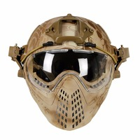 WoSporT New Tactical Helmet With Goggle For Military Airsoft Paintball Army WarGame Motorcycle Cycling Hunting