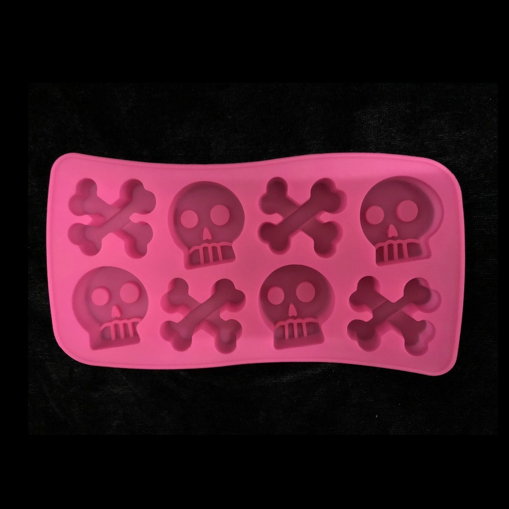 Small Silicone Mold Bones Skull Resin Art Diy Craft Chocolate Mould