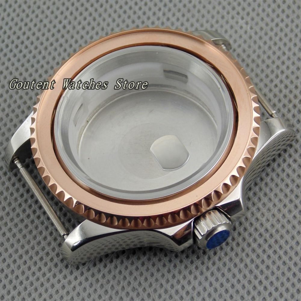 40mm reloj de oro rosa caso + Bezelx1 Kit ETA 2836 DG2813/3804 Miyota 82 Series reloj Shell-in Ver los casos from Relojes de pulsera    1
