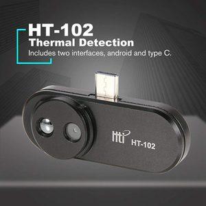 Image 1 - HT 102 теплообнаружение мобильный телефон Инфракрасный Тепловизор внешняя инфракрасная камера термометр Android адаптер с функцией OTG