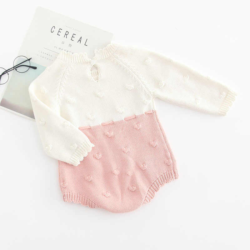 445b07f33b20d Knitted Baby Rompers Autumn Winter Baby Girl Romper Long Sleeve Newborn  Baby Clothes Infant Boys Romper Baby Jumpsuit Overalls