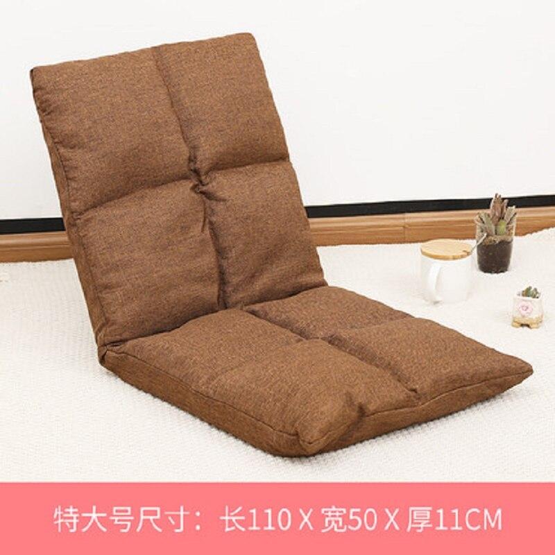 Compatto e leggero Pigro divano Singolo balcone Pieghevole piccolo appartamento camera da letto in tessuto sedia girevole lavabile - 3