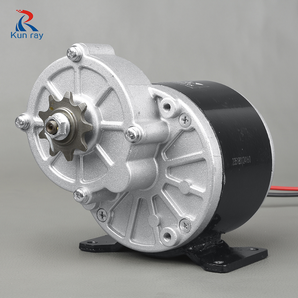 US $31 6 21% OFF|350W 24V 36V Gear Motor Electric Tricycle Brush DC Motor  Gear Brushed Motor My1016Z3 for e bike motorcycle-in Electric Bicycle Motor