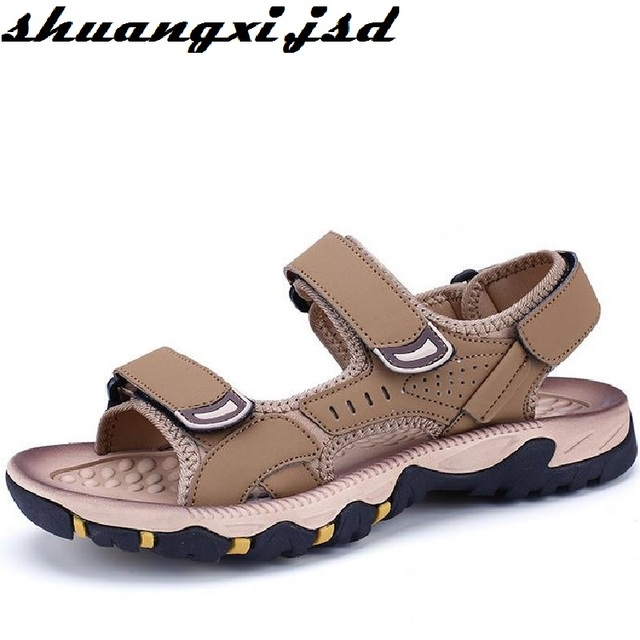 Men Shoe Sandals Genuine leather Cowhide Sandals Fashion Outdoor Casual Men Summer Leather Shoes for Man