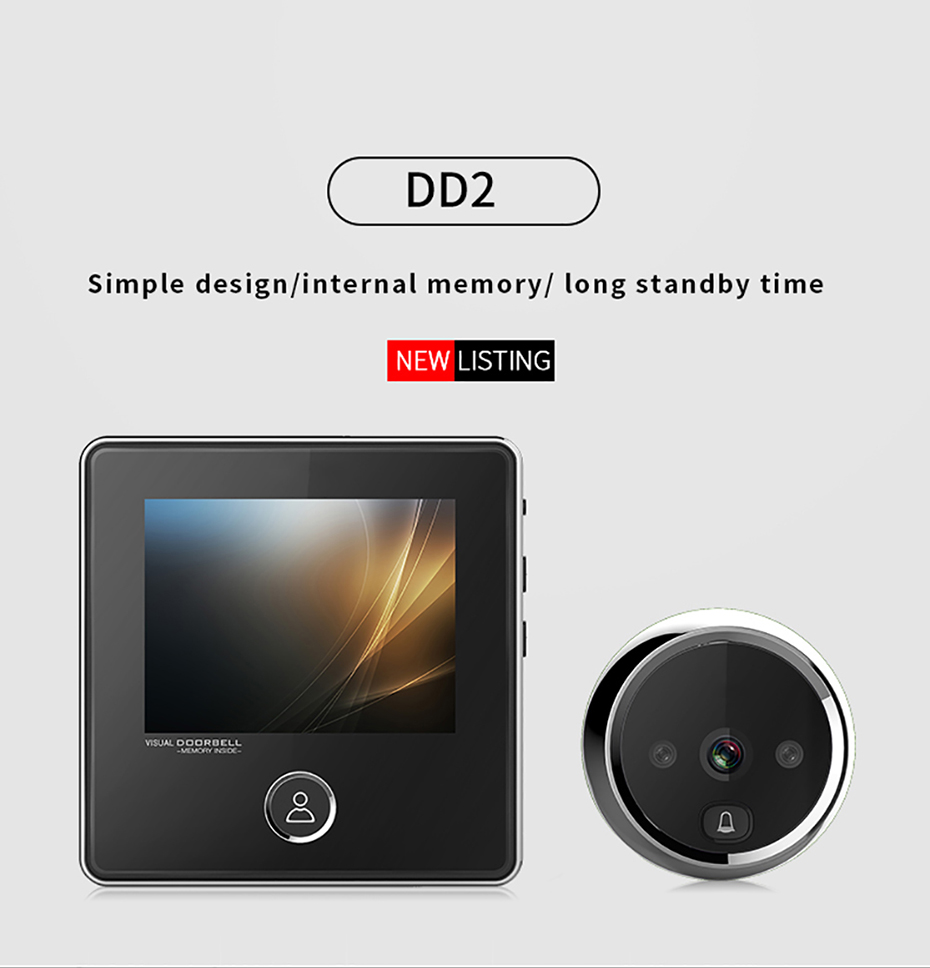 "Mode Wifi Smart Peephole 4,3/""Video Doorbell 720P HD Überwachungskamera DE Heißer"