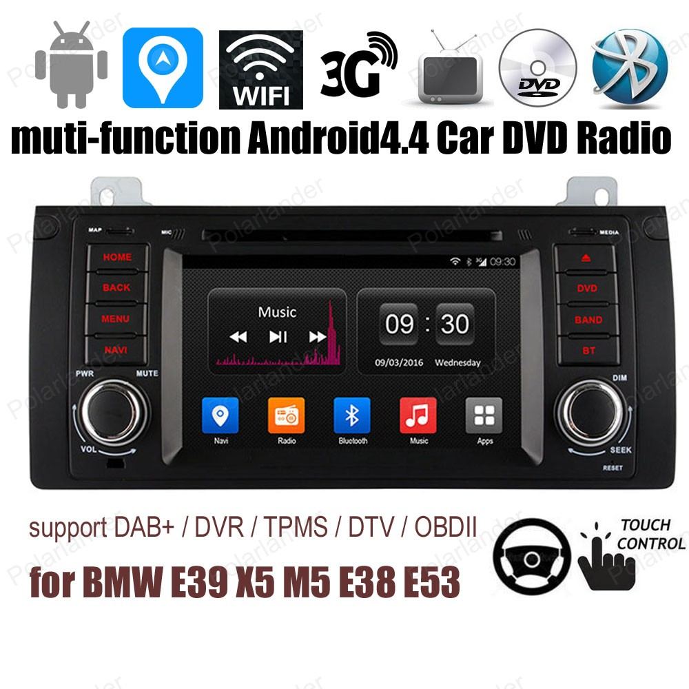 Android44 7 Inch Car Dvd For Bmw E39 X5 M5 E38 E53 Fm Am Radio 2002 Tahoe Wiring Diagram In Dash Player 1024600 B Mw With Wifi Gps Bt Support Dab 3g Tpms Dvr