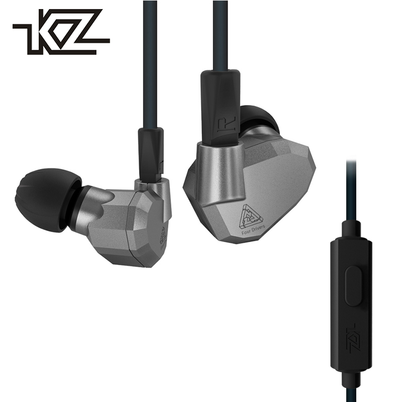 KZ ZS5 Hifi In-ear Wired Earphones For Phone iPhone Headsets Headphones With Microphone In Ear Buds Earbuds Earpieces Auricular kz ed8m earphone 3 5mm jack hifi earphones in ear headphones with microphone hands free auricolare for phone auriculares sport
