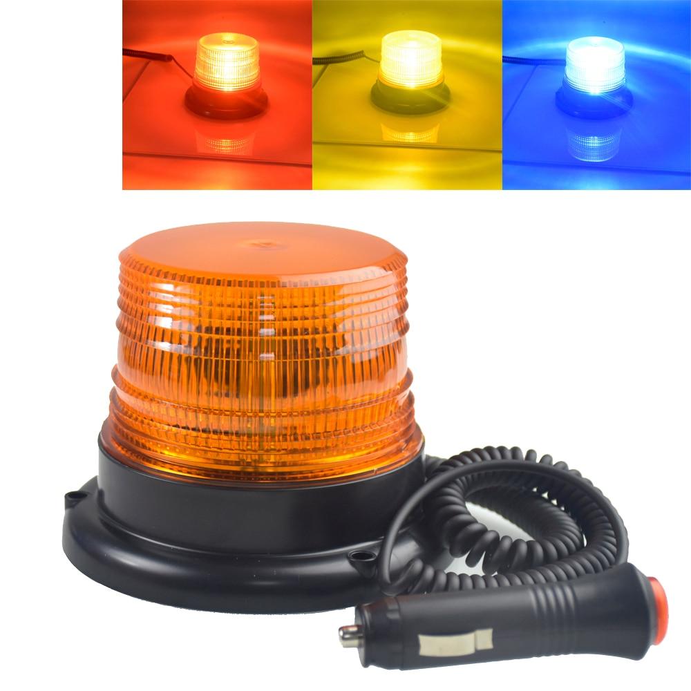 DC 12 V-80 V estroboscópica LED coche camión de carga con una Circular señal magnética de la policía advertencia de luces lámpara de Color a 3