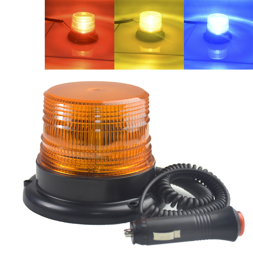 DC 12V-80V Strobe Car LED Cargo Truck Carrying a Circular Signal Magnetic Ceiling Police Lights Warning Lamp 3 Color фары для мотоциклов new atv e 3 dc 12v 80v 9w