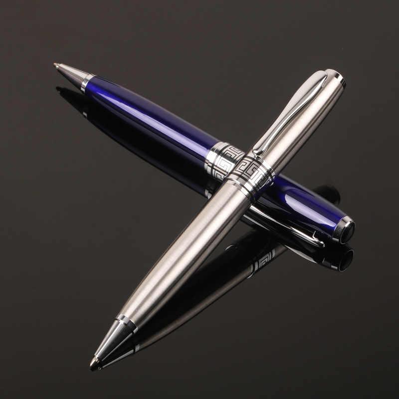 Высококачественная металлическая Роскошная шариковая ручка 0,7 мм с черными чернилами для бизнес-письма, офиса, школы