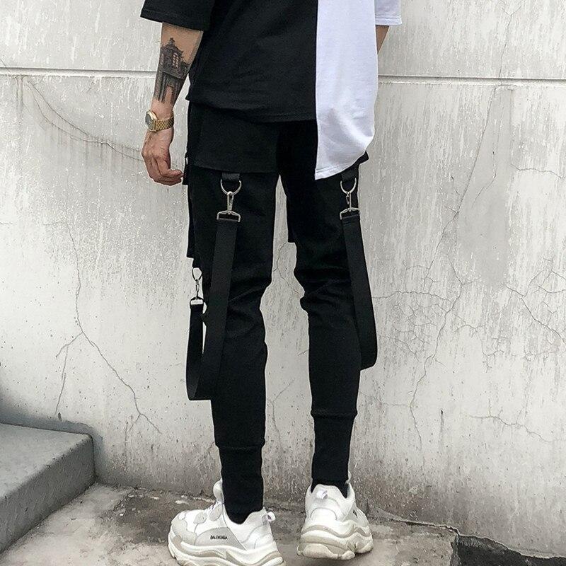 Casual Punk Harem Cintura bolsillo De Hombre Bailando Diseño Pantalones La Hip Elástico Negro Multi Streetwear Hop Hombres 0OxzAA