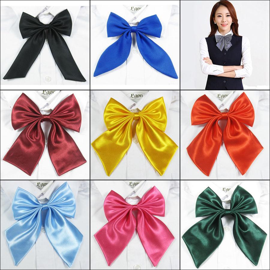 Lady Tie  Uniform Wear Bowtie  Women Cravat Female Student Hotel Uniform Wear  Butterfly
