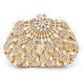 Golden AB crystal Clutches Luxury Diamond Evening Bag frauen festa Dinner Bag Glitter Diamante Ladies Party Purse pochette sc286