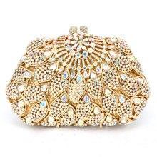 Golden AB crystal Clutches Luxury Diamond Evening Bag frauen festa Dinner Bag Glitter Diamante Ladies Party Purse pochette sc286