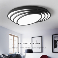 NEO Gleam Black White Finish Modern Led Chandelier For Living Room Bedroom Study Room Home Deco
