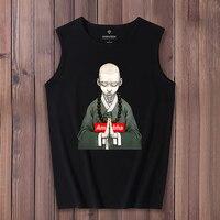 Loose Tank Tops Streetwear Men Sleeveless Cartoon Japanese Cotton Shirt Gasp Tanktop Bodybuilding Fitness Clothing Muscle Shirt
