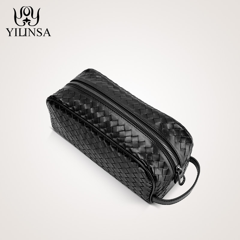 The first layer of leather woven bag hand bag man bag leather wrist bag male leather large tide clutch avr sx460 5 pieces sx460 free shipping
