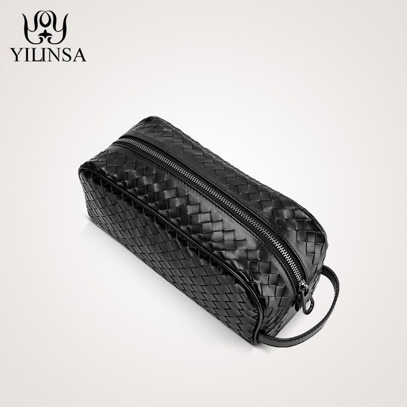 The first layer of leather woven bag hand bag man bag leather wrist bag male leather large tide clutch ягоды карелии сироп вишневый с мякотью 0 51 л