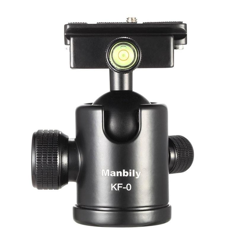 Manbily KF-0 Kamera-stativ-kugelkopf Aluminiumlegierung Kugelkopf Panoramakopf Gleitschiene Kopf mit 2 Eingebaute Laser-wasserwaagen