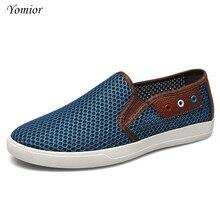 Yomior мужские летние водонепроницаемые Мокасины без шнуровки на Туфли без каблуков мужские лоферы повседневная обувь Дизайнерские мужские пляжная обувь дышащая большой размер 38-49