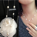 Fashion Imitate Pearl Necklace For Women Top Quality Silver Colare Feminino Best Friend Female Choker Statement Necklace