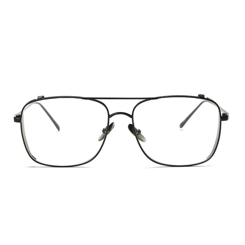 0e56186244c JUSTRUE Fashion Square Eyeglasses Oversized Metal Frame Clear Transparent  Lens Glasses Women Men Vintage Optical Eyeglasses-in Eyewear Frames from  Apparel ...