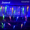 Jiaderui 10m 100 LEDs Icicle Christmas Holiday Lights EU Plug LED New Year String Outdoor Waterproof