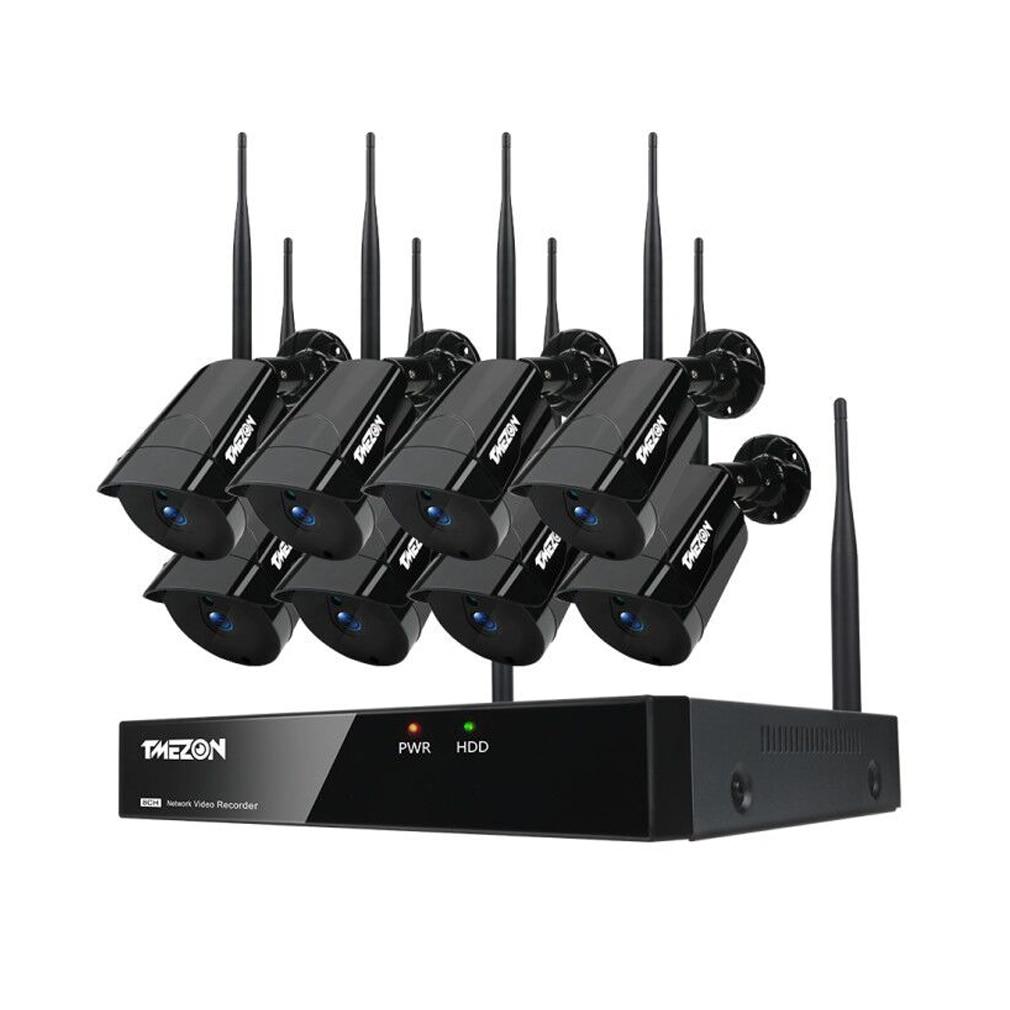 TMEZON 8CH CCTV Wireless NVR 8PCS 960P IR Waterproof Outdoor Motion Detection WIFI IP Camera Security Video Surveillance System