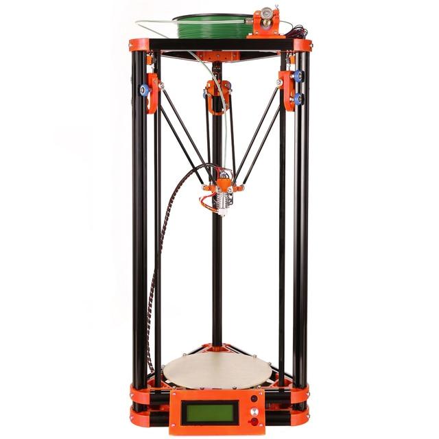 2016 ЖК Diy 3d Металл Принтер, большой Размер Печати 3d-принтер Коссель Дельта Комплект 3d Принтер С 40 м Нити 8 ГБ SD Карту Бесплатно