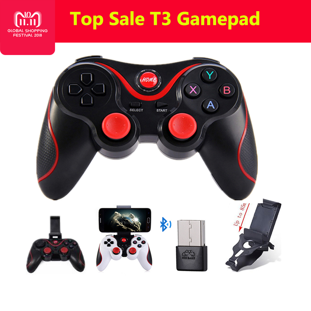 T3 Smart Phone Game Controller Wireless Joystick Bluetooth 3.0 Android Gamepad Gaming Remote Control for phone PC tablets pk S3