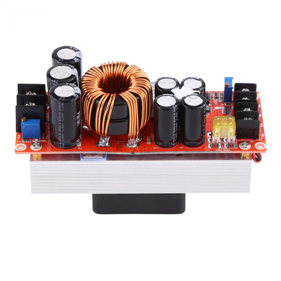 1500W 30A DC-DC Boost Converter Step-up Boost Module DC10-60V To DC12-90V With Cooling Fan