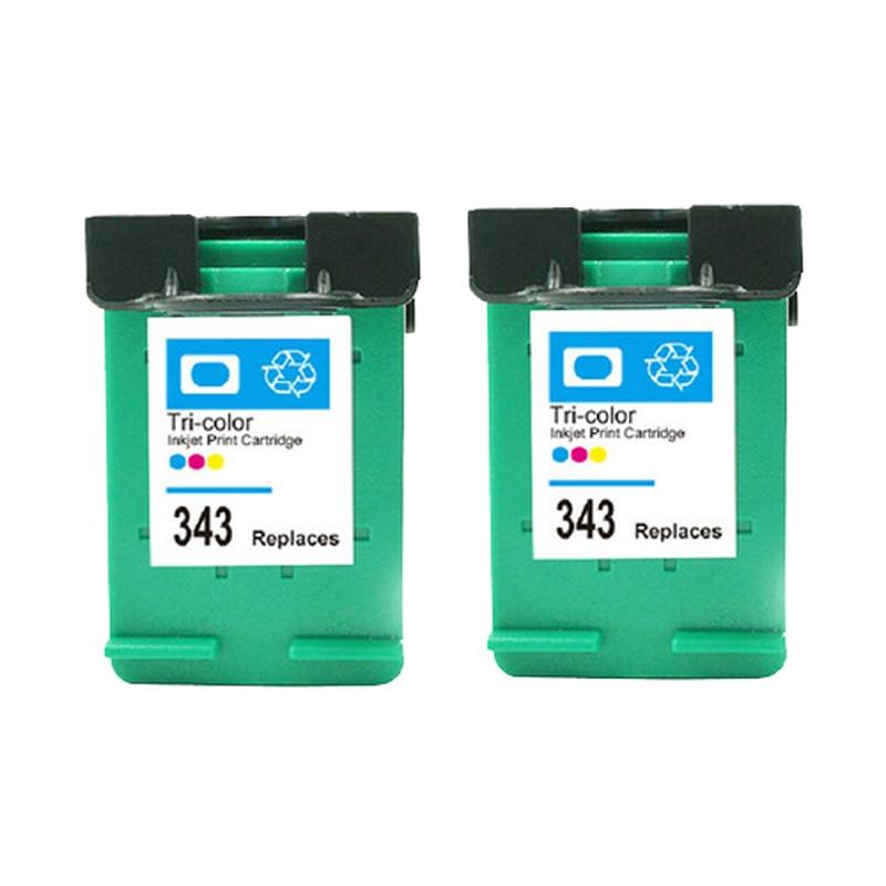 Vilaxh 343 Penggantian Cartridge Tinta Kompatibel untuk HP 343 Untuk - Elektronik kantor