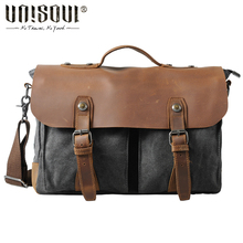 UNISOUL Casual Crossbody bags for men 2016 Fashion Canvas bag shoulder Vintage men messenger bags