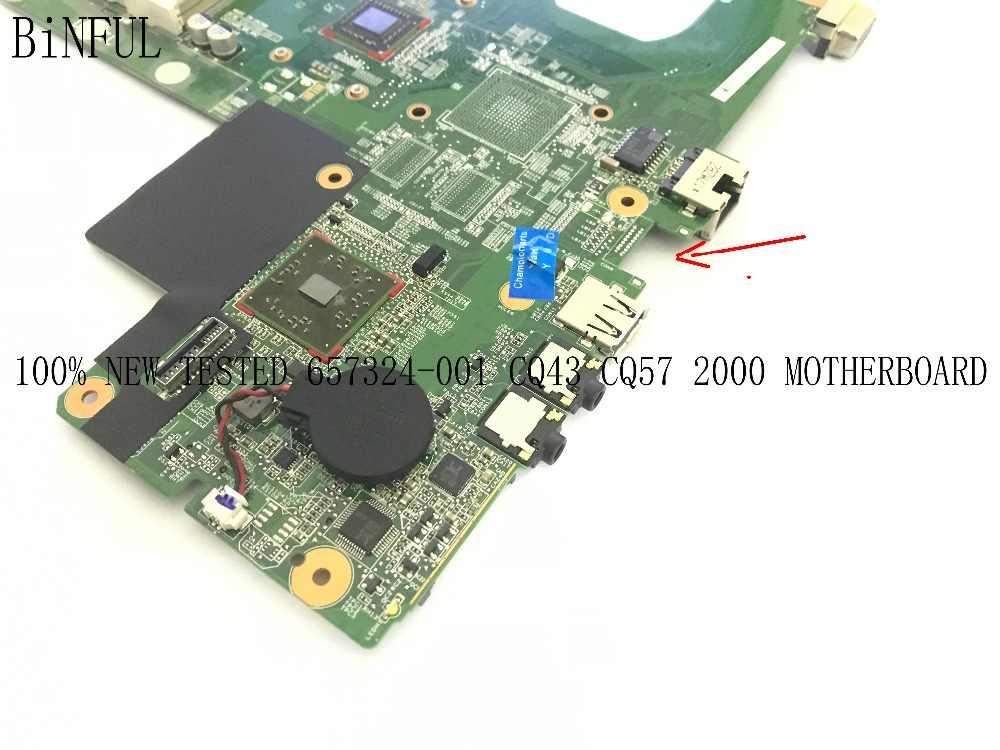 Binful 、 available.、 100% 新、ノートパソコンのマザーボード 2000 CQ43 CQ57 メインボードノートブック、オンボードプロセッサ (完全にテスト)